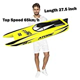 27,6-Zoll-Fernbedienung Speedboat Racing S011 RC-Boot 65 km...