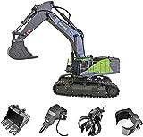 s-idee® S1593 + 3 Aufsätze Ferngesteuerter Kettenbagger...